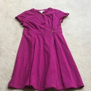 The Territory Ahead Pink Front Keyhole Wrap Dress